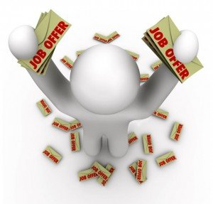 bigstock-Job-Offers--Man-With-Many-Job-12258440