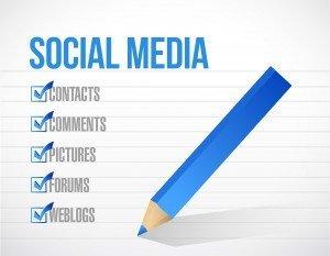 social media check mark list illustration design background. over a notepad