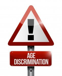 age discrimination road sign illustration design over white