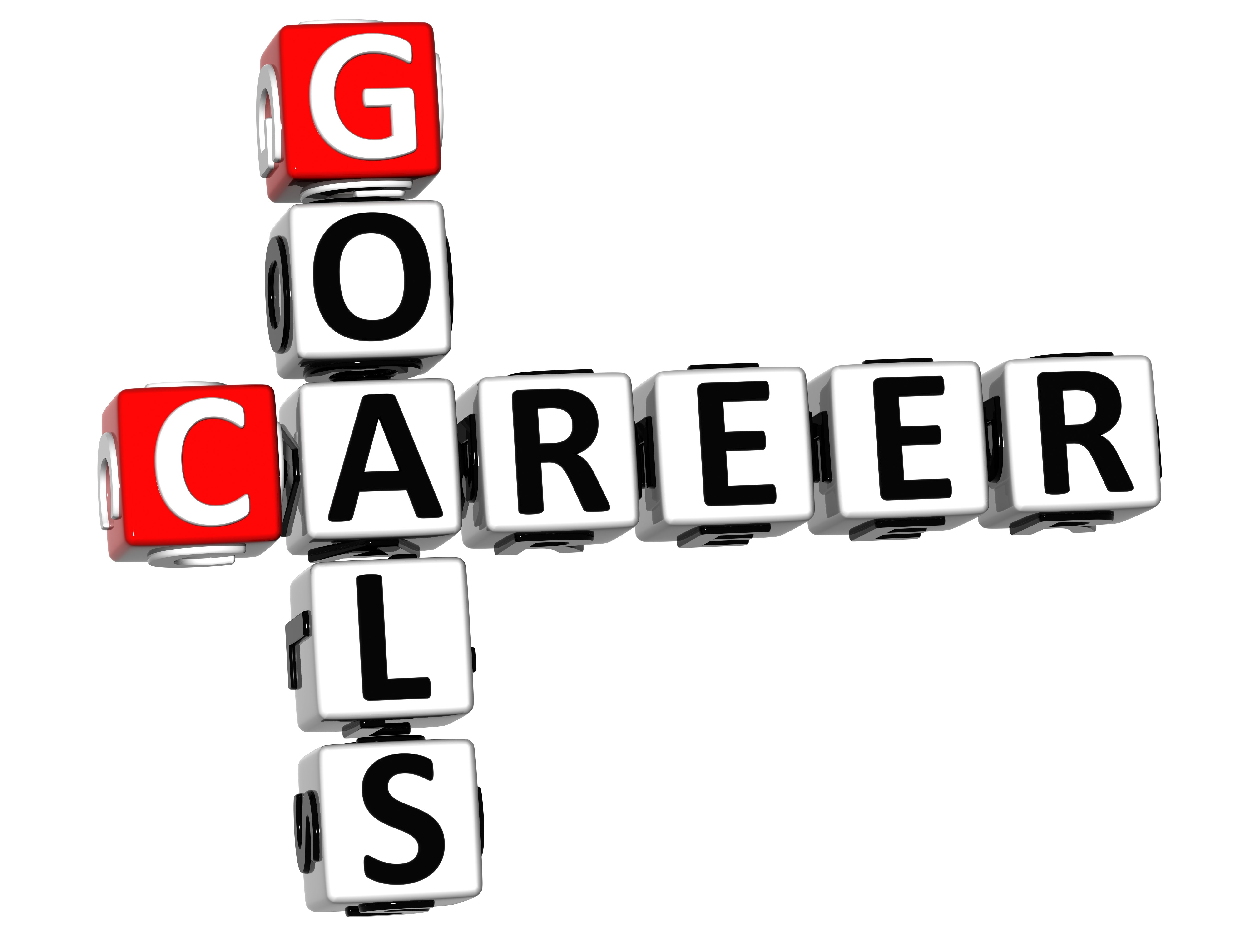 3d career goals crossword on white backgound - Career Accomplishments