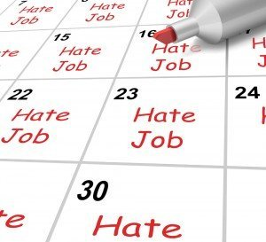 Hate Job Calendar Showing Loathing Work And Workplace