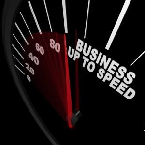 Business Up to Speed - Speedometer Measures Growth