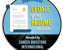 Update Your Resume Month logo