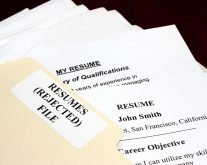 File of rejected resumes