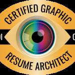 CDI resume writer certification logo: Certified Graphic Resume Architect (CGRA)