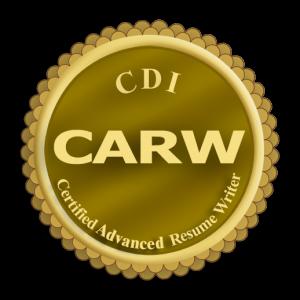 Certified Advanced Resume Writer certification logo