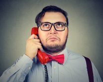 Job Seeker on Telephone Interview