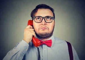 Job Seeker on Telephone Interview
