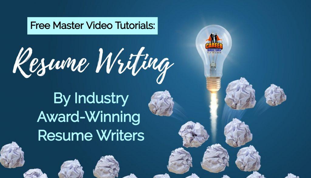 Resume Writing Video Tutorial Lessons by TORI Award-Winning Resume Writers