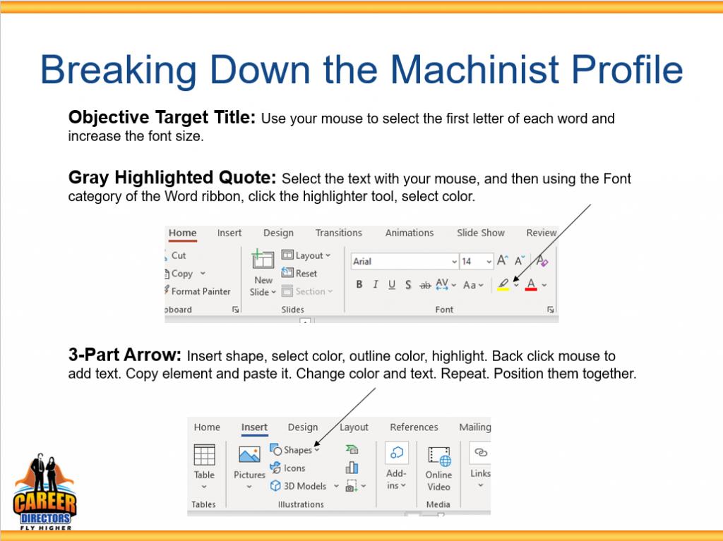 Graphic Resume Slide - MS Word Design 2