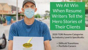 TORI Resume Writing Awards Everyday Heroes of 2020