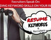 Recruiters Speak About Keywords & Skills in Resume Writing