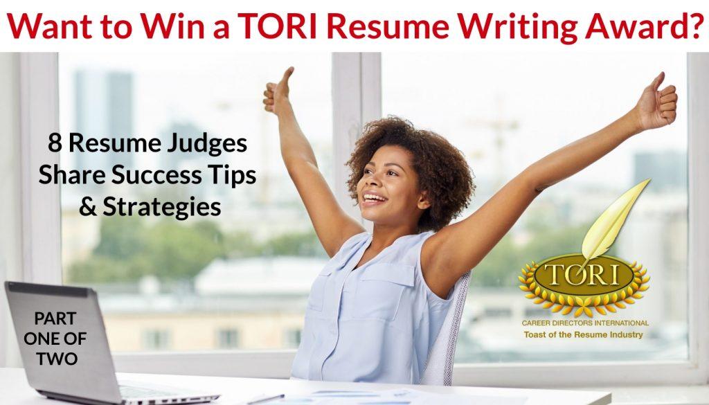 TORI Resume Writing Award Judges Share Their Tips
