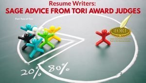 TORI Award Resume Writing Judges Give Advice Part 2 of 2