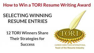TORI Winners Share How to Select a Winning Resume to Enter