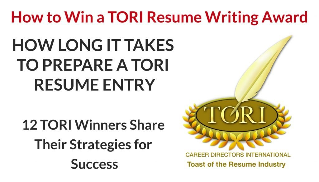 Time it Takes to Prepare a TORI Resume Entry