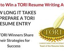 Time it Takes to Prepare a TORI Resume Entry