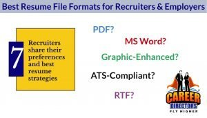 Recruiters - Best Resume File Format and Style