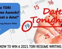 Resume Writers: Schedule a TORI date night to win a resume writing award and grow your business