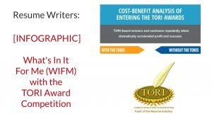 TORI Resume Writing Awards - What's In It For Me Infographic
