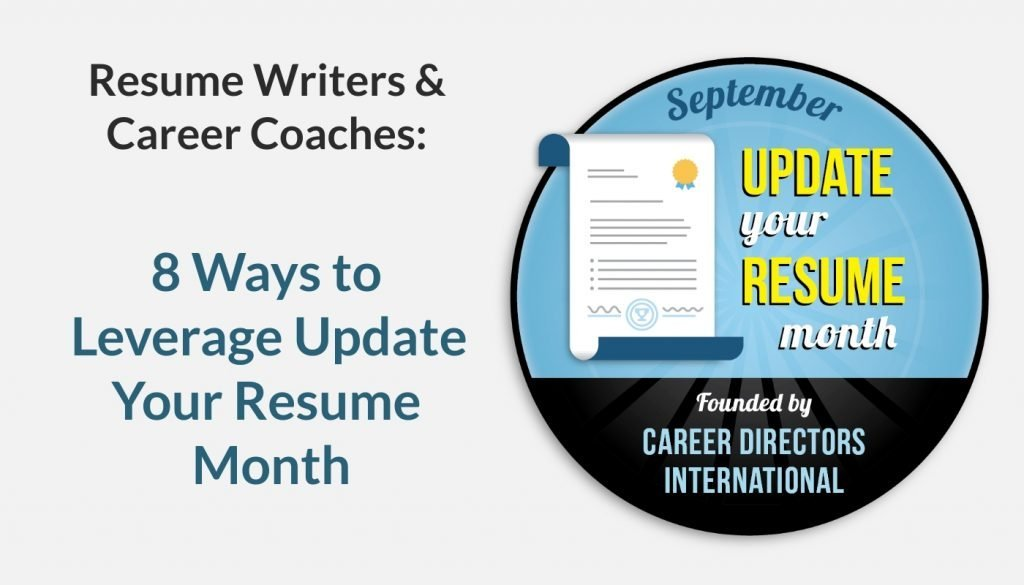 CDI's September is Update Your Resume Month: How Career Pros can Leverage This Event