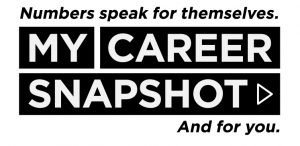 (logo) My Career Snapshot. Numbers speak for themselves and for you.