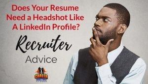 Headshot on a Resume
