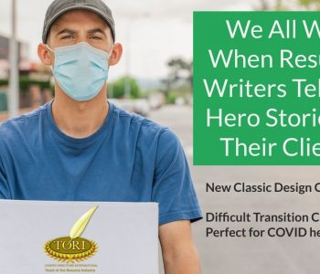 TORI awards - telling resume writing stories of everyday heroes